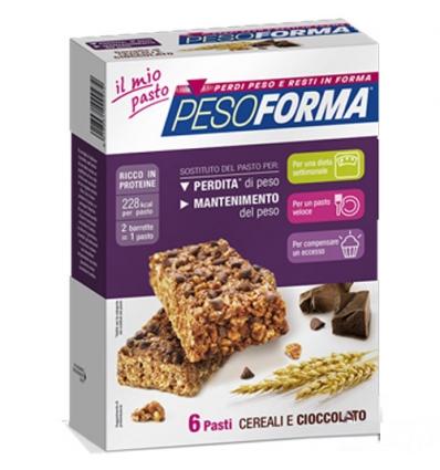 PesoForma barretta ai cereali e cioccolato 6 pasti