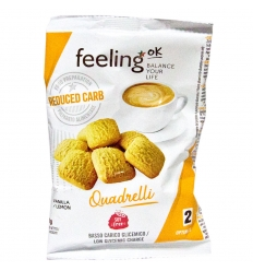 Feeling OK optimize quadrelli vaniglia limone 50g
